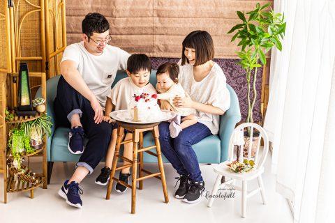 誕生日記念にご家族撮影いかがですか?