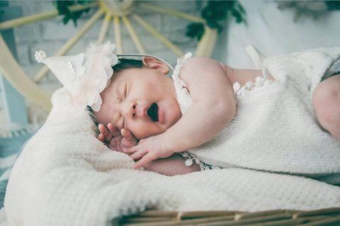 赤ちゃんの記念撮影